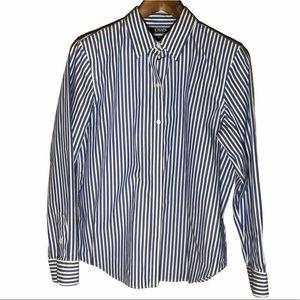 Chaps Long Sleeve Striped Dress Shirt